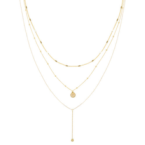 Layering Coin Necklace - Gold