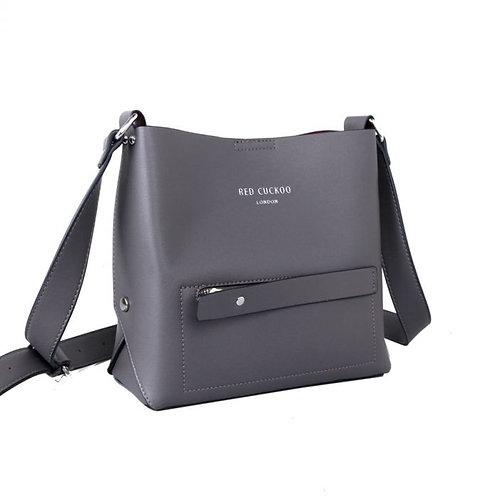 Red Cuckoo Zip Crossbody Bag   Grey