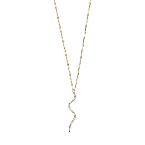 Pilgrim; Necklace Beauty : Gold Plated : Crystal