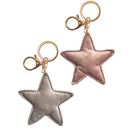 Velvet Star Keyring / Bag Charm