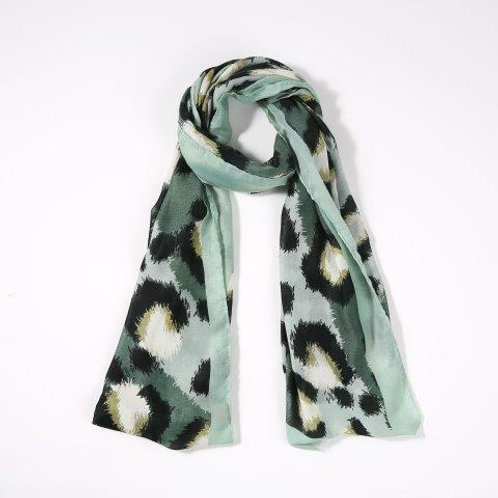 Leopard Scarf | Olive
