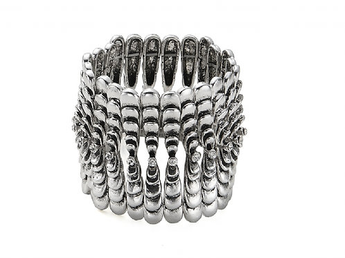 Chunky Heavy Layered Stretch Bracelet