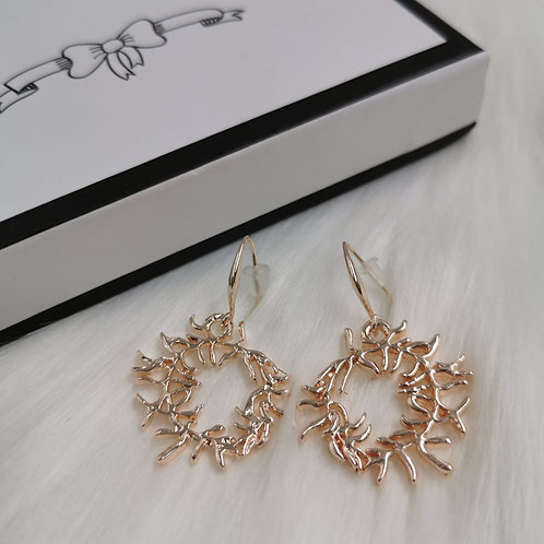 Misshaped Rose Gold Earrings