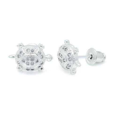 Cubic Zirconia Turtle Earrings