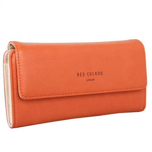 Red Cuckoo Fold Over Purse | Orange