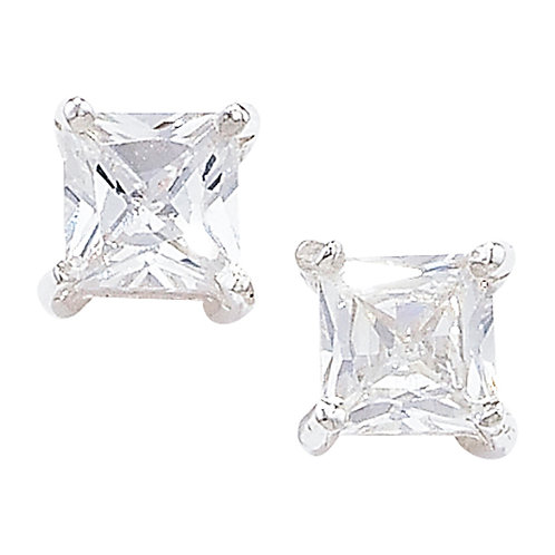 Sterling Silver 7mm CZ Stud