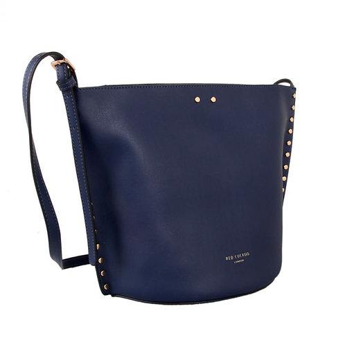 Blue Studded Bucket Bag