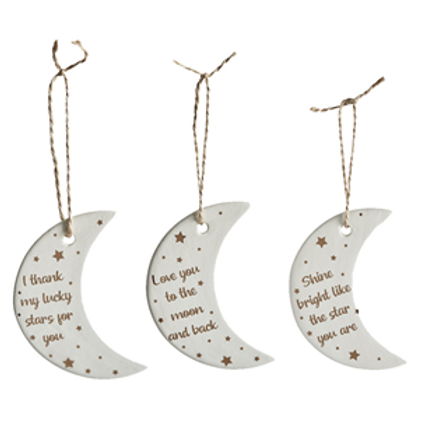 Love Ceramic Moon Decoaration