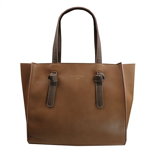 Red Cuckoo Two Tone Tan Bag