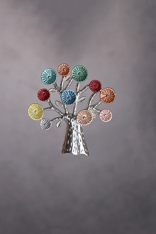 Colourful Tree Brooch / Scarf Pin