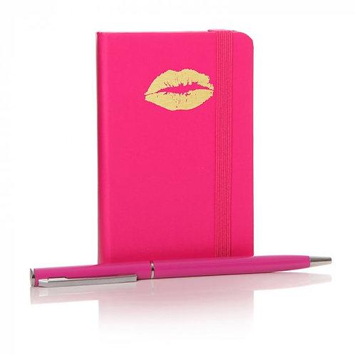 Notebook - W/Pen Pink