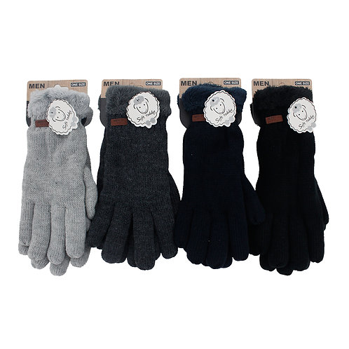 Mens Teddy Gloves