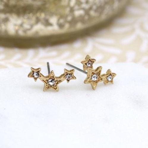 GP Triple Star Earrings