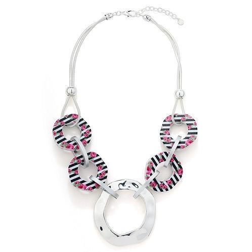 Open Circle Colour Bead Necklace