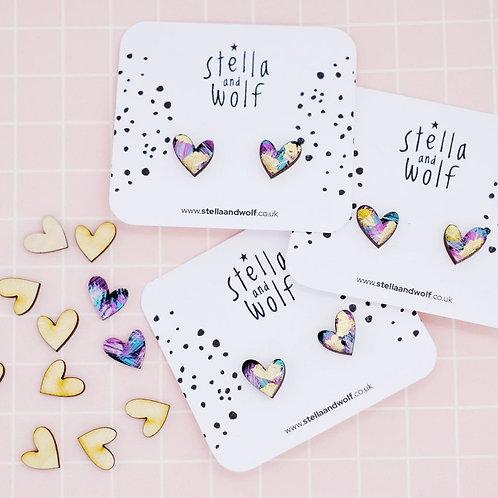 S&W Galaxy Print Wonky Hearts