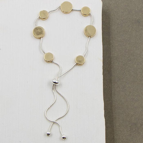 Friendship Style Bracelet With Disc Elements