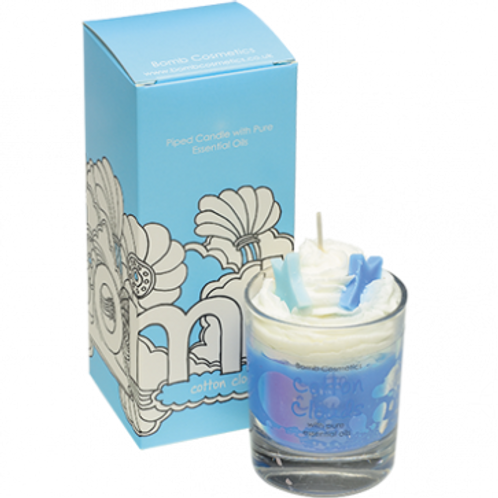 Cotton Clouds Piped Candle
