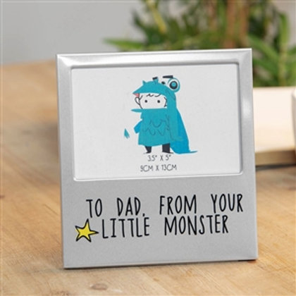 Dad, Little Monster Photo Frame