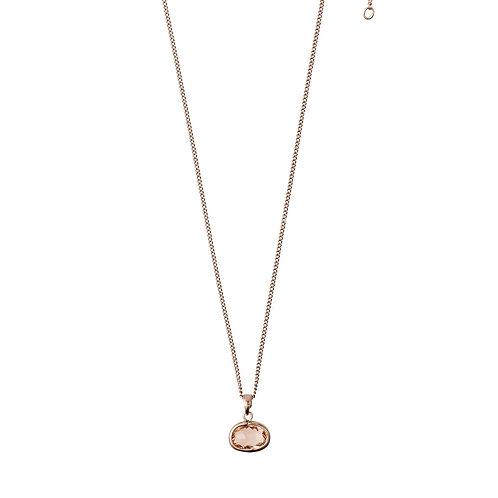 PILGRIM: Rose Gold, Stone Necklace