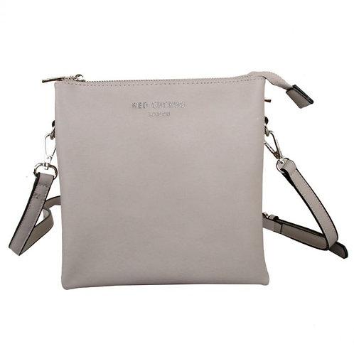 Red Cuckoo Tall Crossbody Bag Silver