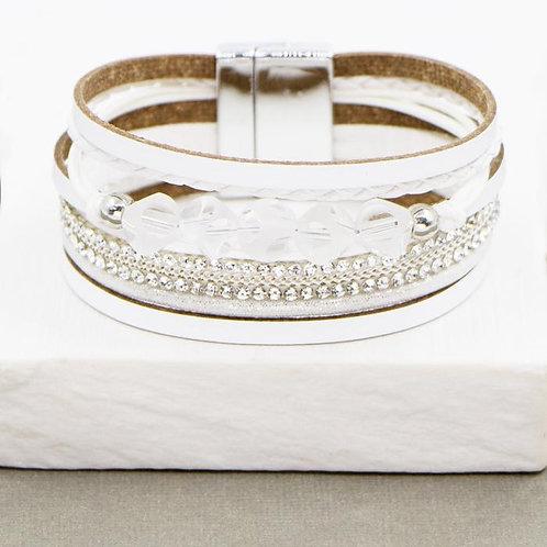 Multistrand PU Cuff Bracelet