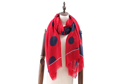 Spots Red Scarf