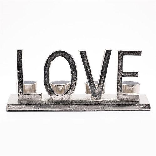Metal Love Tealight Holder 31cm