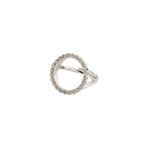 PILGRIM: Open Circle Crystal Ring