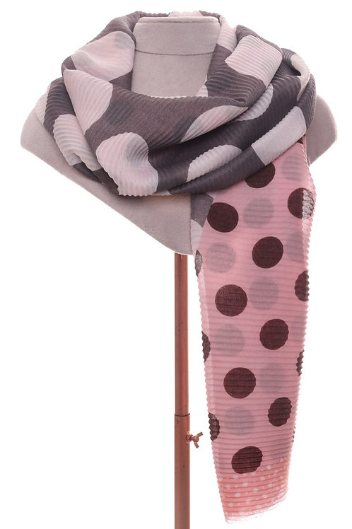Two Tone Pleated Scarf