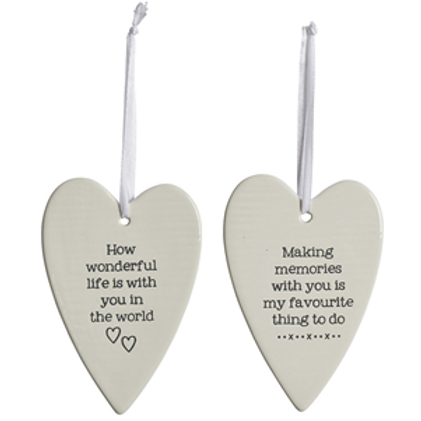 Ceramic Long Heart Decoration