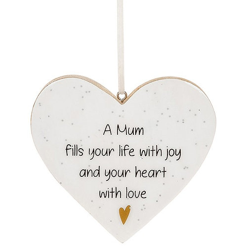 Glitter Words Hanging Heart Sign | Mum