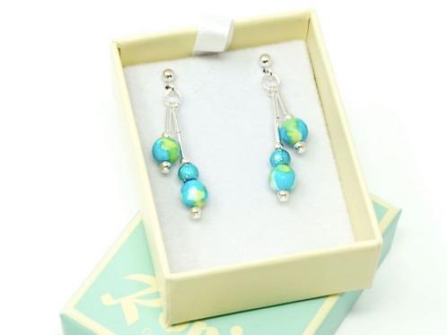Gemstone Jewellery   Swimming Pool Earrings
