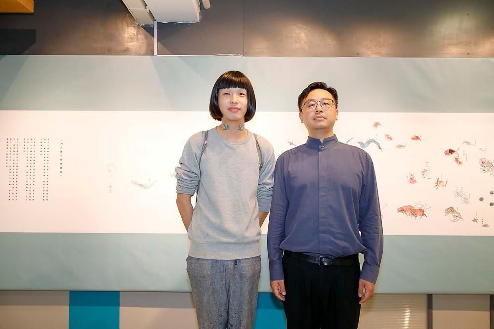 藝術家 Kensa Hung (左)