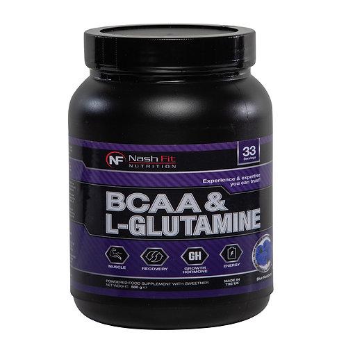 BCAA & L-Glutamine (500g - 33 servings)