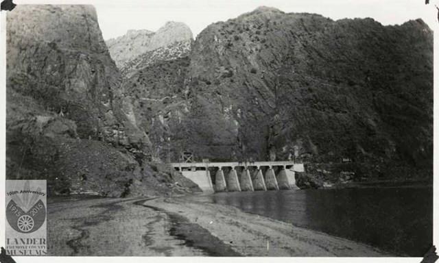 Original Boysen Dam  - P/C Pioneer Museum