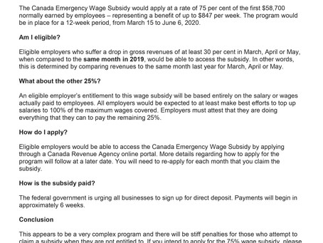 Canada Emergency Wage Subsidy