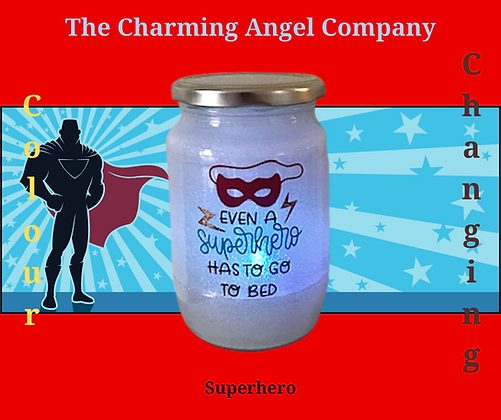 Superhero Colour Changing Night Light Jar