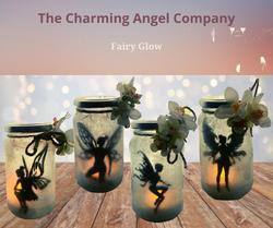 Small fairy sparkle tea light jars