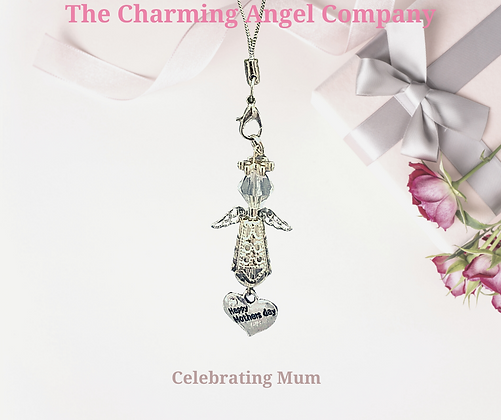 Beaded Happy Mothers Day Angel Charms