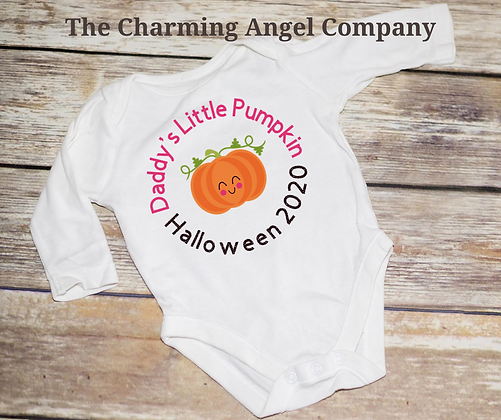 Daddy's/Mummy's Little Pumpkin Baby Bodysuit