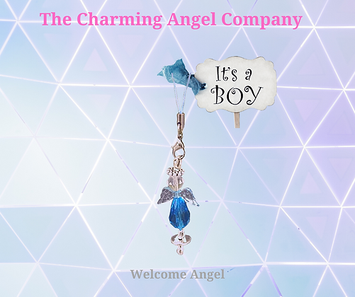 Beaded Angel Charm With Dummy