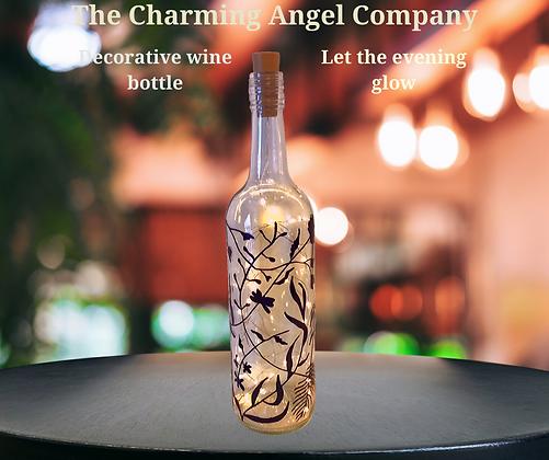 Floral Decorative Wine Bottle