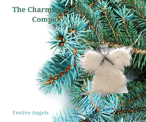 Fluffy Knit Christmas Angels