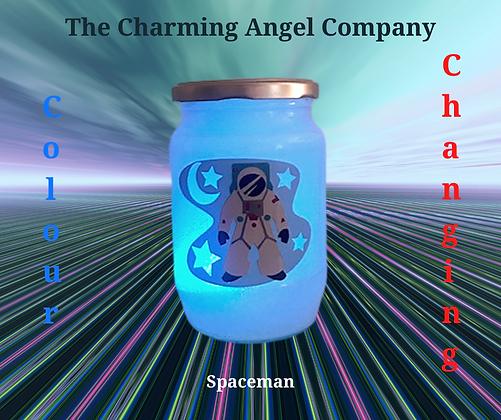 Spaceman Colour Changing Night Light Jar