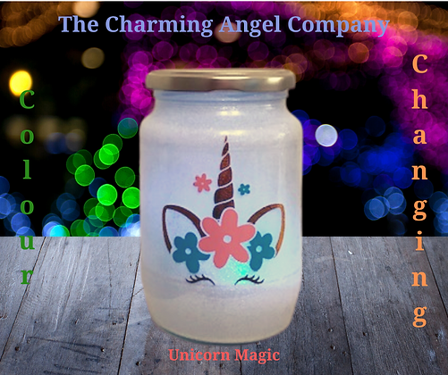 Unicorn Colour Changing Night Light Jar