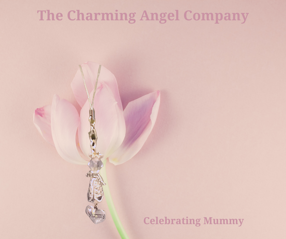 Beaded Mummy angel charm
