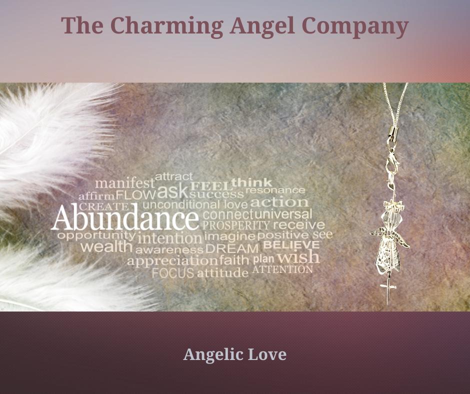 Beaded angel charm with cross