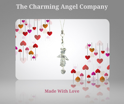 Beaded made with love angel charm