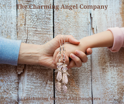 Beaded Mother/Daughter angel charms
