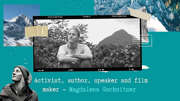 Activist, author, speaker and film maker